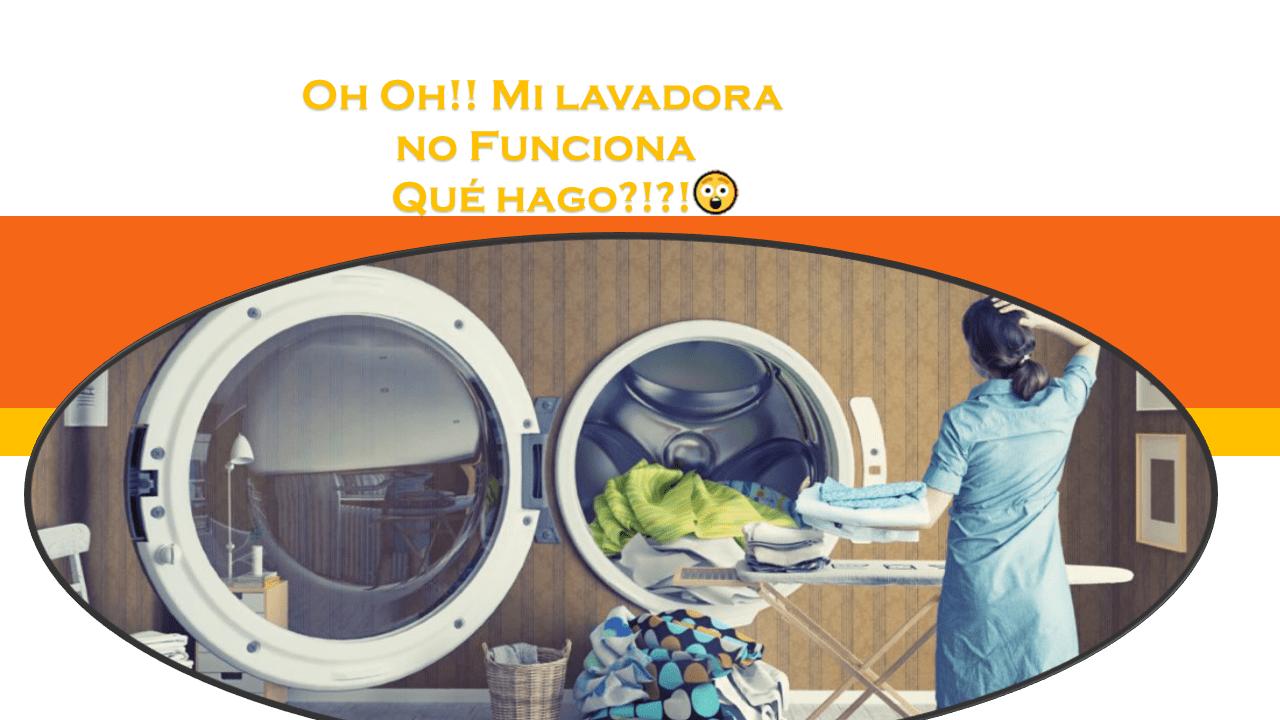 Oh Oh! Mi lavadora no funciona!!😲. ¿Qué hago?!?!? 1